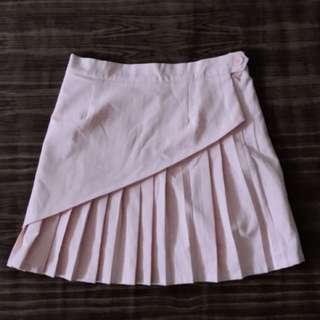 Andwelldressed Pleated Skirt (Pastel Pink)