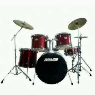 Drum Set 5pcs JB 1016-BL Tanpa Kartu Kredit