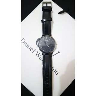 Original Watch Jam Tangan Daniel Wellington Classic Sheffield Silver 40mm Leather Strap