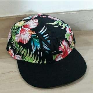 Floral Cap BLACK