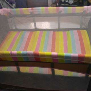 Rainbow and Playful Crib for Baby with Mosquito Net