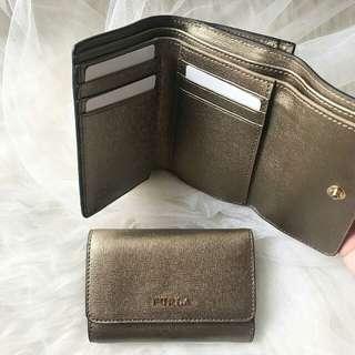 Furla wallet trifold // BRONZO size : 12cm x 8cm