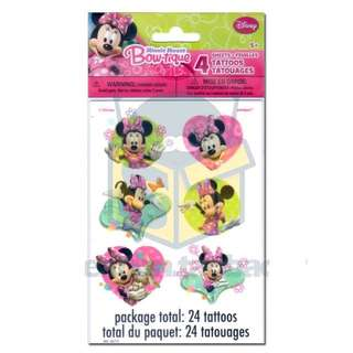 💕 Minnie Mouse party supplies - party tattoos