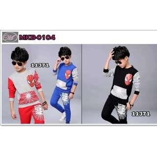 CODE: MKB-0104 Kids Terno Spiderman Long Sleeves #11371