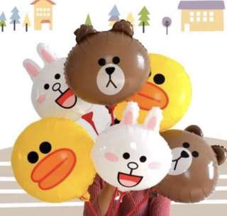 Line friends brown cony sally 16 inch foil balloons
