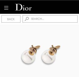 Dior pearl bee earrings
