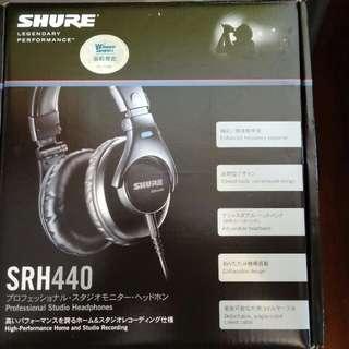 [新未開]SHURE SRH440 專業錄音室耳機 professional headphones
