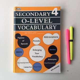 English Vocabulary Assessment Book for Secondary 4 and O Level