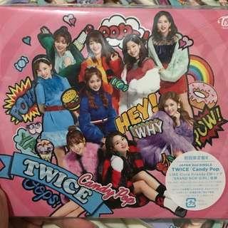 Twice Candy Pop 全新B盤 (連海報$150)