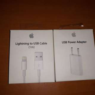 Kabel Charger + Adaptor Apple Original iBox IDR 600.000 nett