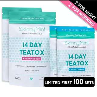 (25% Offer!) SkinnyMint 14 Day Starter Teatox Slimming Beauty Health Product 1 for 1 Free