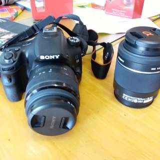 Sony A58 單鏡相機 連相機袋 連長鏡 連說明書