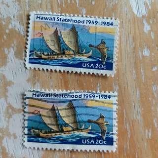美國郵票已銷郵票2枚 A01