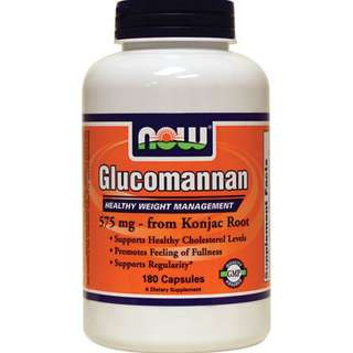(USGMP) NWF544 Now Foods Glucomannan 575mg180Caps Healthy weight manage. 瘦身