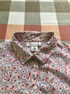 H&M Floral Polo Shirt