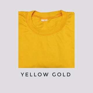 Yellow Gold Bf tee/Plain tee