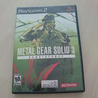 Ps2 Metal Gear Solid 3 Subsistence