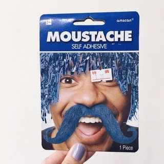萬聖節 派對裝扮 尾牙活動 扮裝 變裝專用 造型藍色鬍子 鬍鬚 moustache