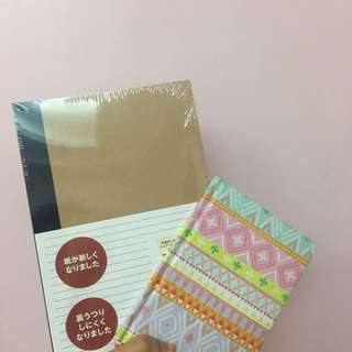 Set of 5 Muji Notebooks (with free cute notebook from Typo)