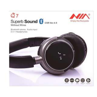 Wireless Superbass Surround Multifinction Wired SD Card Wireless Headphones Call Function NIA Q7