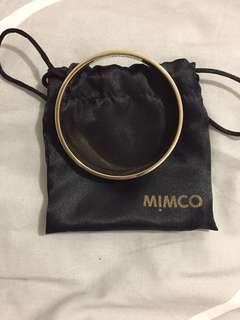 Mimco Enamel Bangle- Blue