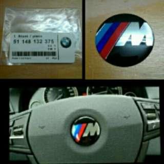 M-logo Emblem for BMW Steering Wheel