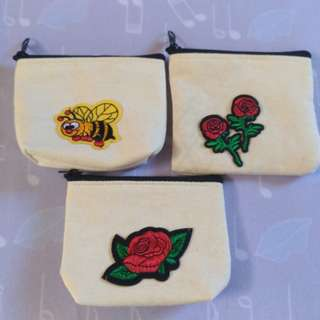 Canvass purse with patches