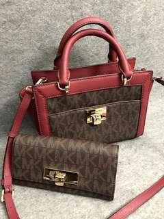 Michael Kors Satchel Bag & Wallet Bundle
