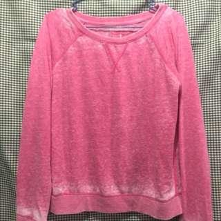 Atmosphere Acid Wash Pink Pullover