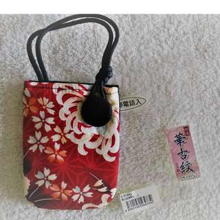 Brand new Japan floral mofit design small pouch *very good material, from Japan*