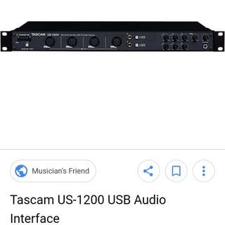 Tascam US1200 audio interface