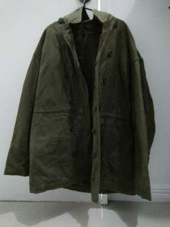 Olive Green Reversible Jacket