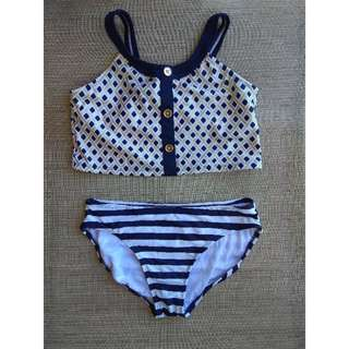 Kids crop top 2 piece swimsuit. Repriced!