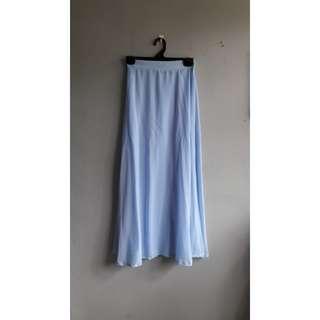 Chiffon High Waist Maxi Skirt