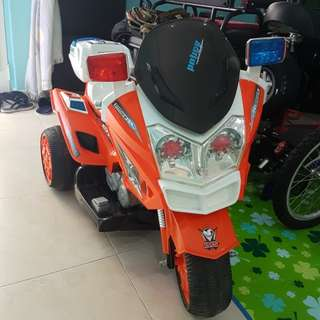 Kids Police Electric Bike