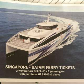 Ferry tickets to Batam for 2 pax (Return)