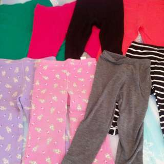 Take All 9pcs Leggings fits 2t-3t
