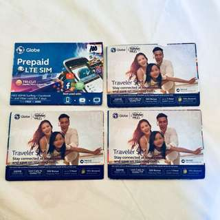 Globe Sim Card LTE/Traveler Sim