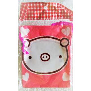 Brand new piggy cloth-like material small pouch