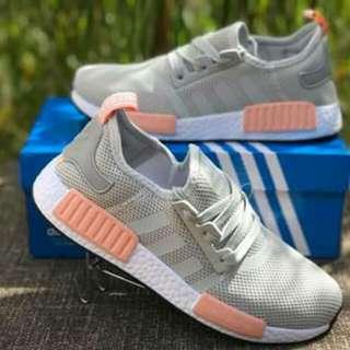 Adidas nmd gray pink