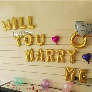Will You Marry Me Foil Balloon Set