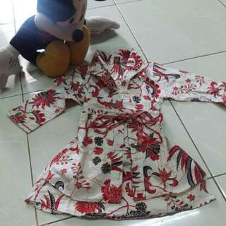 Dress/tunik anak batik lucu 3 thn