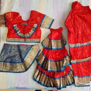 Bharathanatiyam costume (Indian dance costume)