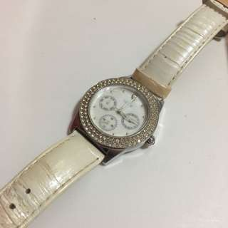 Sovil Et Titus White Leather Watch