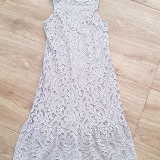 TSW grey lace dress
