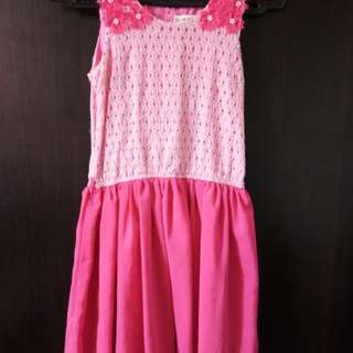 Pink dress for kids