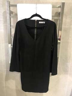 Black Suede Dress - Size 8