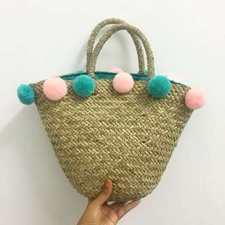 BALI BAG WITH POM POM (Ready stocks!!)