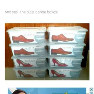 Stackable Plastic Shoes Boxes for Sneakers Heels