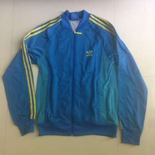 ADIDAS ORIGINAL TRACKTOP BLUE YELLOW